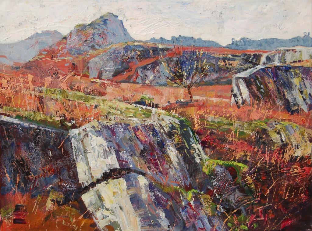 Wetherlam Rocks - Acrylic, 40 x 50 cm